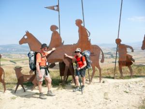 Pilgerzug auf der Alto del Persón
