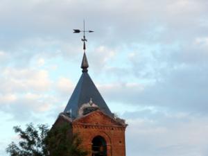Kirchturm von El Burgo Ranero