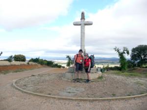 Beim Kreuz von Santo Toribio vor Astorga