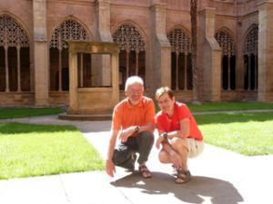 Im Kreuzgang des Klosters Santa Maria la Real in Nájera