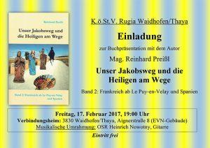 Buchpräsentation Unser Jakobsweg und die Heiligen am Wege Band 2