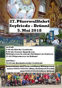 Seyfriedser Brünnlwallfahrt 2018